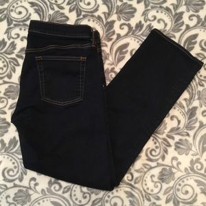 🌺 JUST IN J Crew dark bootcut stretch blue jeans